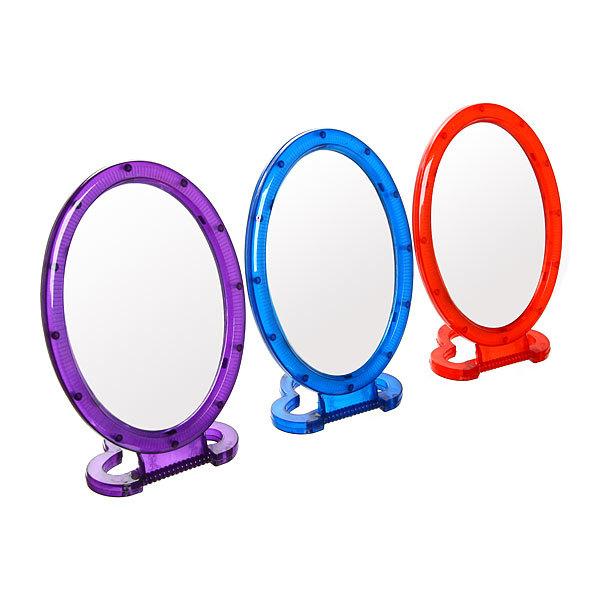 Зеркало настольное, подвесное, овальное, 18х13 см