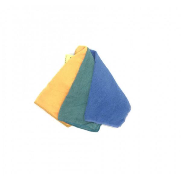 Салфетки, для уборки, из микрофибры, набор 3 шт, 30 x 30 см