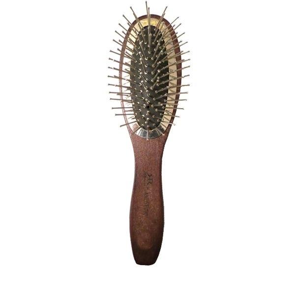 Щетка деревянная, массажная, овальная, метал. Зубцами, длина 245 мм