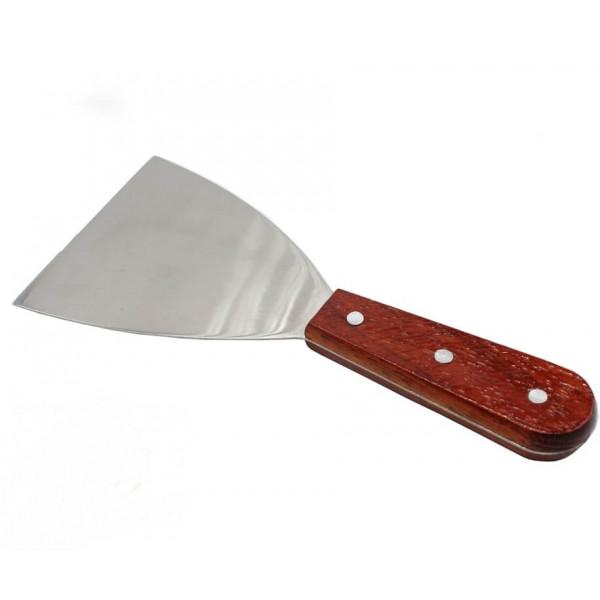 Лопатка кулинарная с деревянной ручкой, 11х10 см