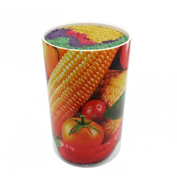 """Подставка универсальная для ножей """"Овощи"""", 11х22 см, цветной наполнитель."""