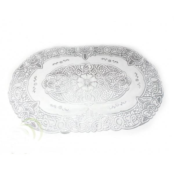 Термосалфетка ажурная на стол золото/серебро сред 40х84 см
