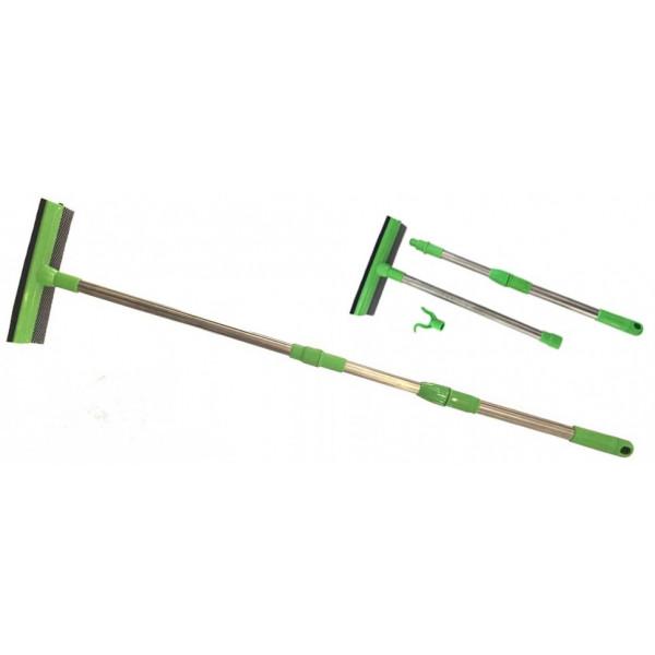 Окномойка сборная ручка (прямая и часть ручки телескопическая), 110х25 см