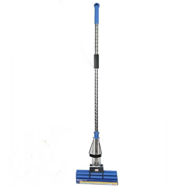 Швабра ПВА насадка, двойной роликовый отжим, крученая ручка(косичка), 115 x 27 см