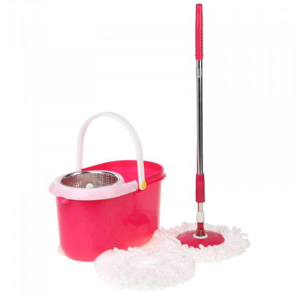 Комплект - Ведро с системой отжима и швабра моп, (металл отжим)