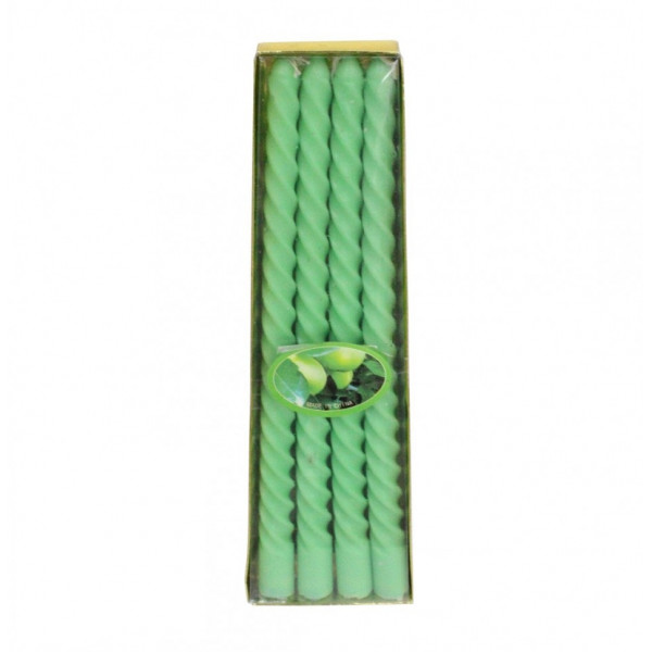 Новогодние ароматизированные свечи 4 шт без блёск сред. 20 см