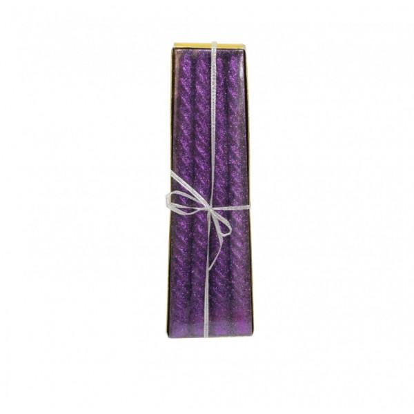 Новогодние ароматизированные свечи 4 шт с блёсками бол. 26см