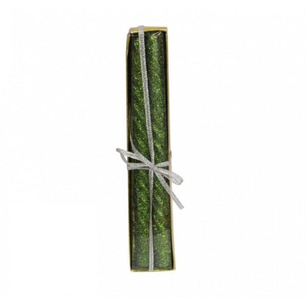 Новогодние ароматизированные свечи 2 шт с блёсками сред. 20см