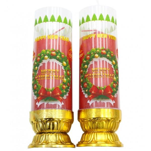 Новогодние свечи, 18 см, 2 шт.