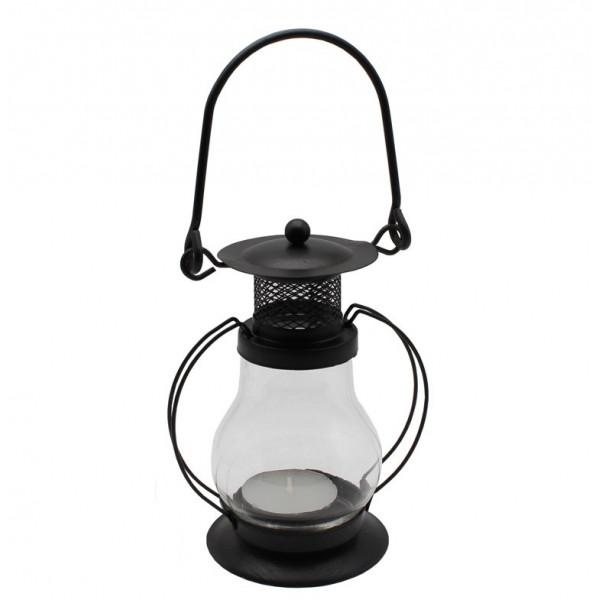 """Новогодняя свеча """"Светильник"""", черная, простая, 12 см"""