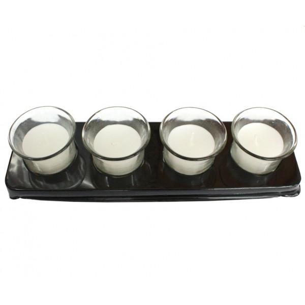 Свечи в стаканчиках, ароматизированные, 4 см, 4 шт.