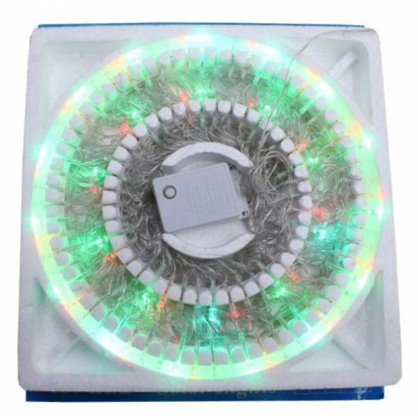 Гирлянда светодиодная цветная со взаимозаменяемыми лампами 100 LED (в пенопласте)
