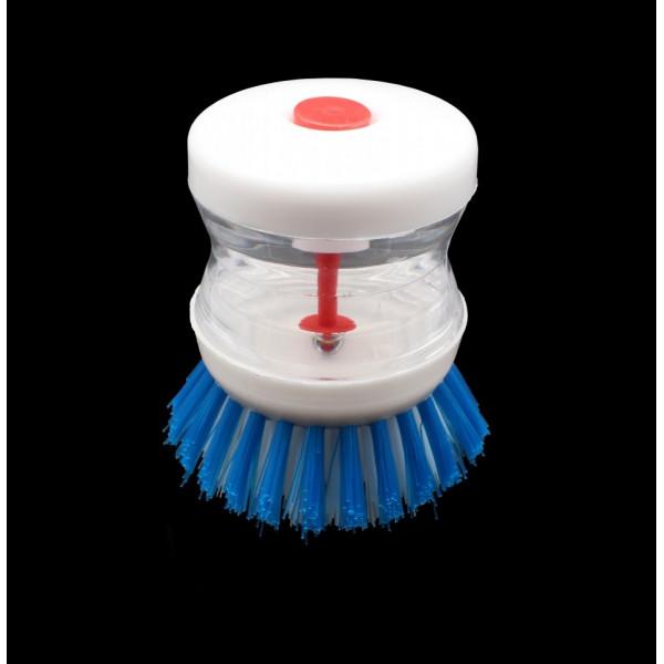 Щетка для посуды с емкостью для моющего средства, высота 8 см