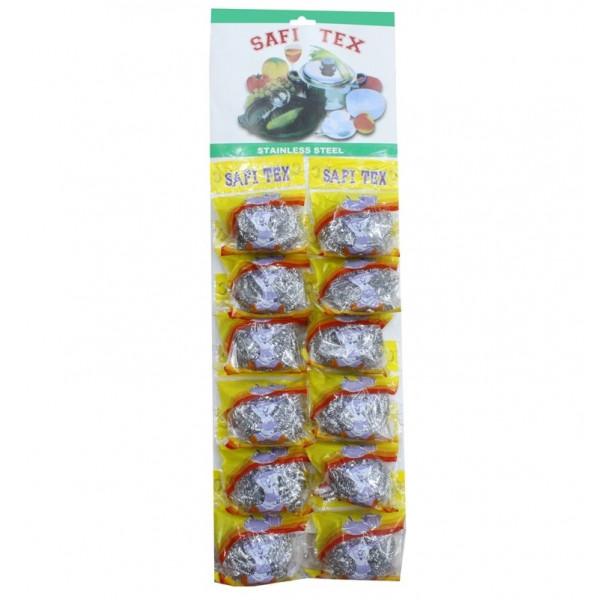 Мочалка металлическая для кухниSOFTTEX, 12 шт, 15 г