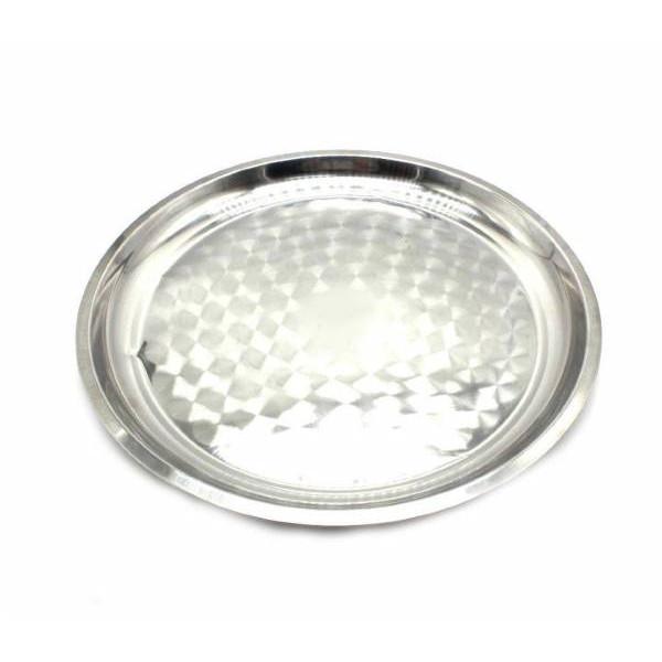 Поднос металлический для посуды 25см 08