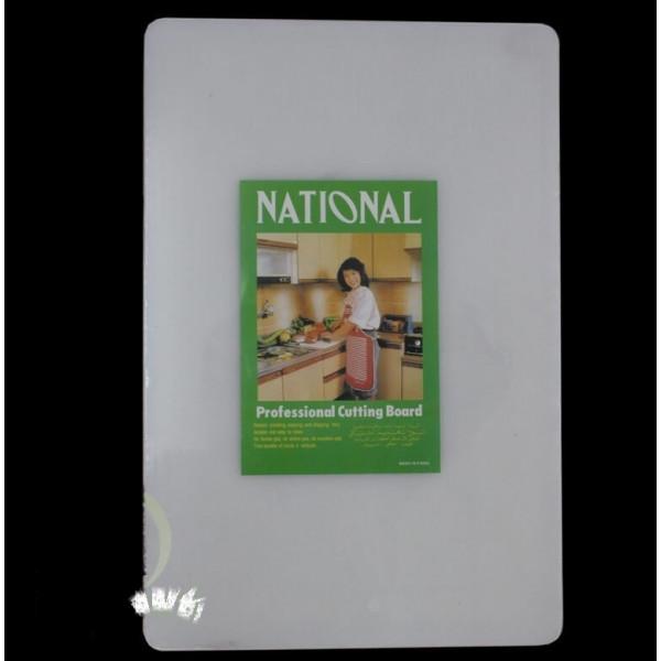 Доска разделочная пластиковая, белая, толстая, 45х30х2.5 см