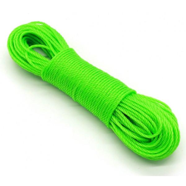 Веревка для белья пластиковая 3 мм, 15 м