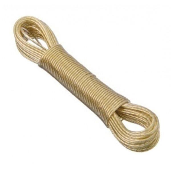 Веревка металлическая с покрытием ПВХ, 2 мм, 15 м