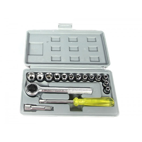 Набор инструментов (набор ключей и головок), 17 предметов