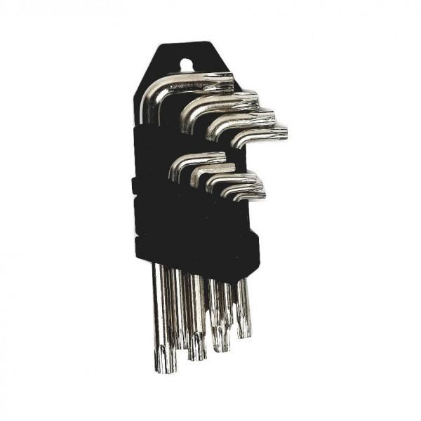 Комплект угловых шестигранных (имбусовых) ключей, 9 шт.