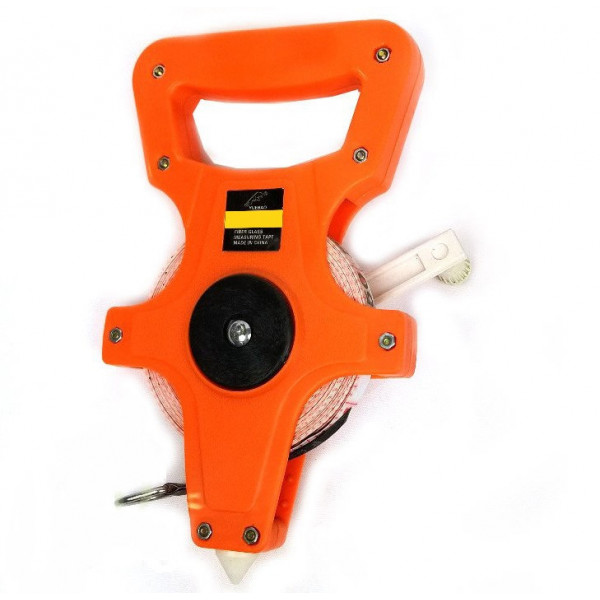Рулетка геодезическая оранжевая 50 м