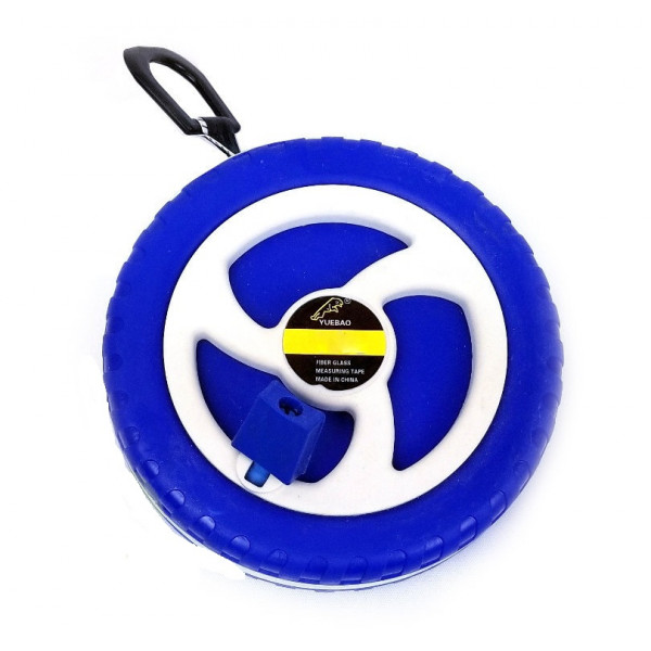 Рулетка геодезическая синяя 10 м