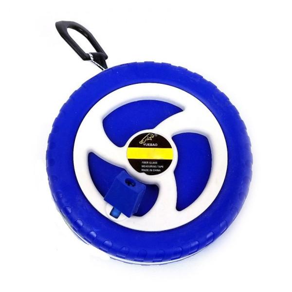 Рулетка геодезическая синяя 50 м