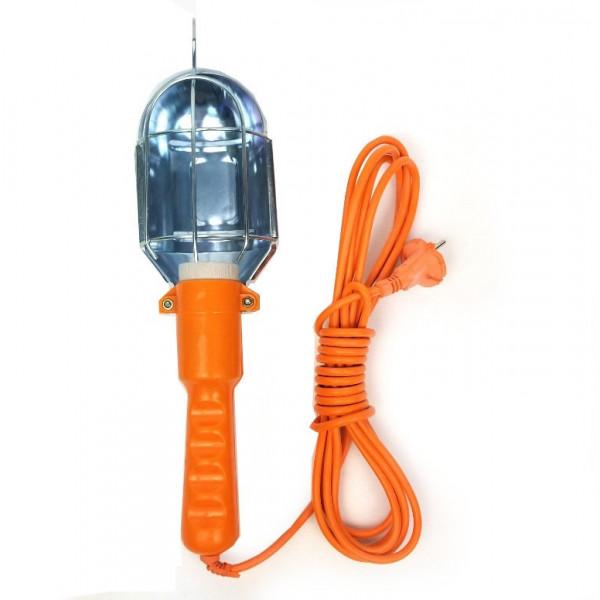 Светильник-переноска для ламп накаливания, оранжевый, 5 м