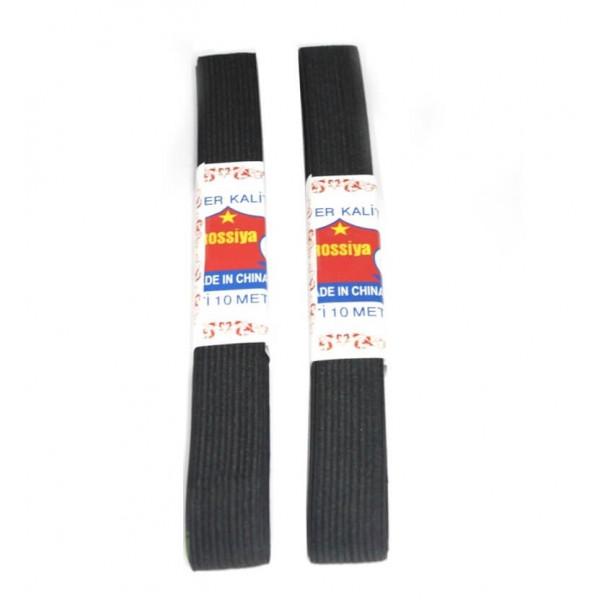 Резинка для одежды черная широкая, (2 шт в упаковке), 3.50 м