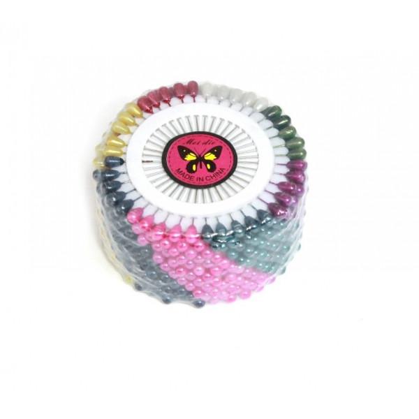 Булавки портновские, цветные, большие, в уп. 12 дисков