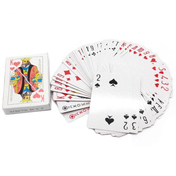 Карты игральные, бумажные, 54 шт.