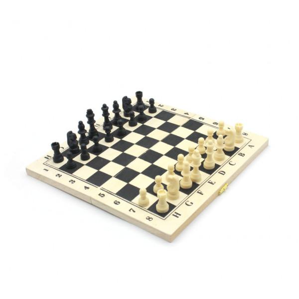 Шахматы 3 в 1: Шахматы Нарды Шашки; поле 29х29 см