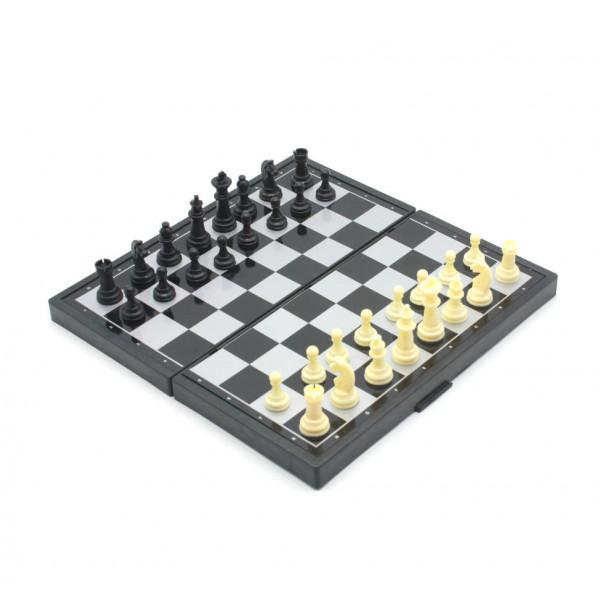 Шахматы на магнитах 3 в 1: Шахматы Нарды Шашки; поле 24х24 см