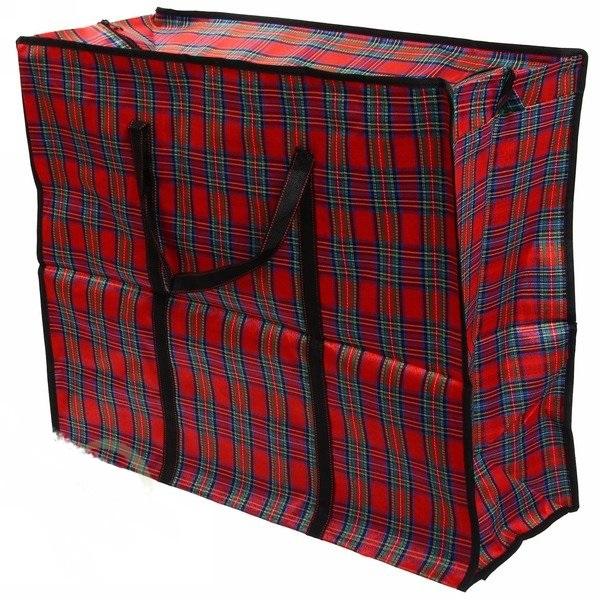Хозяйственная сумкана молнии, тканевый , дорожная, 70х45х30 см