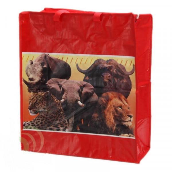 Хозяйственная сумкана молнии, с  рисунками , дорожная, 55х65х25 см